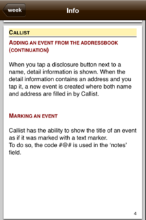 Callist 1.0 Info 4