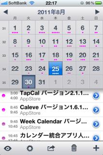 WeekCal 4.0の月ビュー