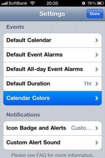 Calvetica Calendar 4.0 Settings