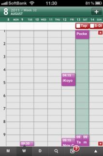 チャート式週表示の例