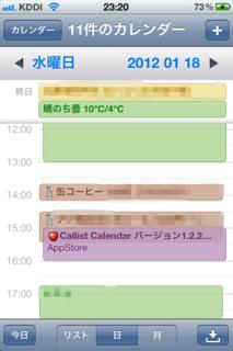 標準カレンダーの日ビュー
